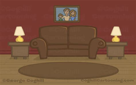 cartoon living room cartoon dog characters and background illustrations my
