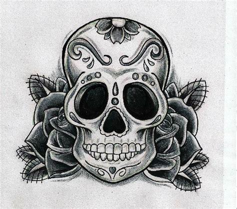 calavera tattoo calavera mexicana con rosas para tattooideas