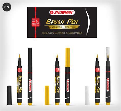 Snowman Brush Pen 12w morning communications snowman brush pen product design