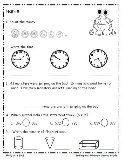 printable math review worksheets worksheet 2nd grade math review worksheets hunterhq free