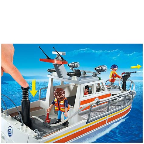 toy coast guard boat playmobil coast guard rescue boat with water hose 5540