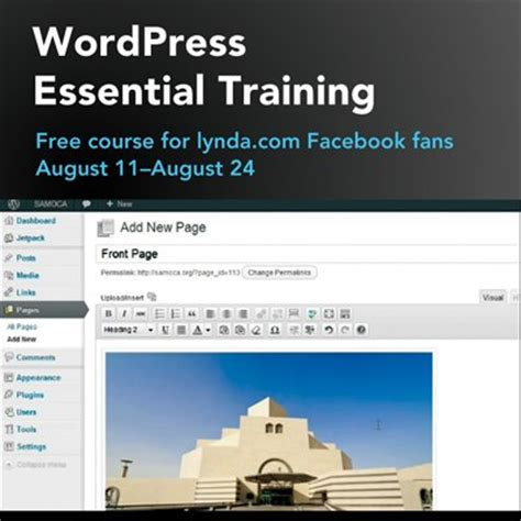 tutorial online wordpress get wordpress essential training for free august 11 to 24