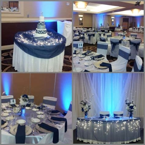 pinterest navy silver weddings   Navy blue and silver