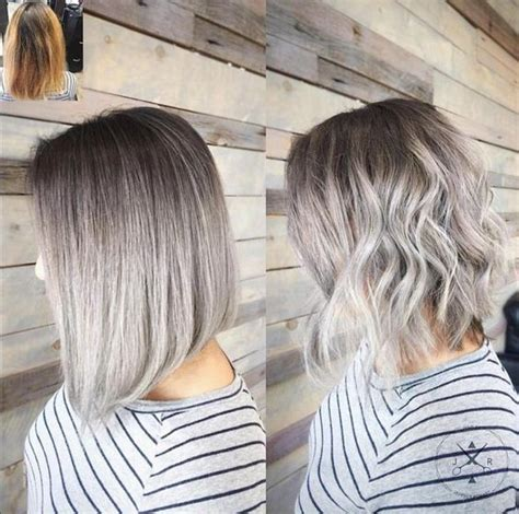 gray shoulder length hairstyles 20 trendy gray hairstyles gray hair trend balayage