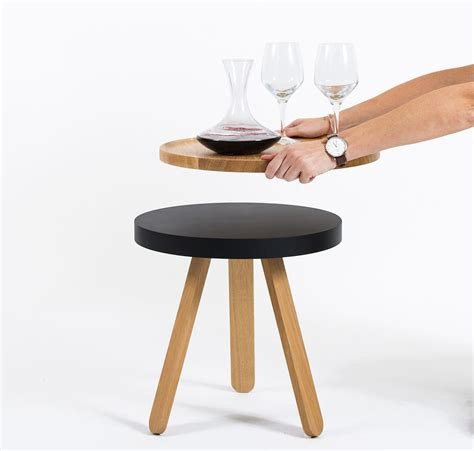 serving tray side table batea a side table with a serving tray design