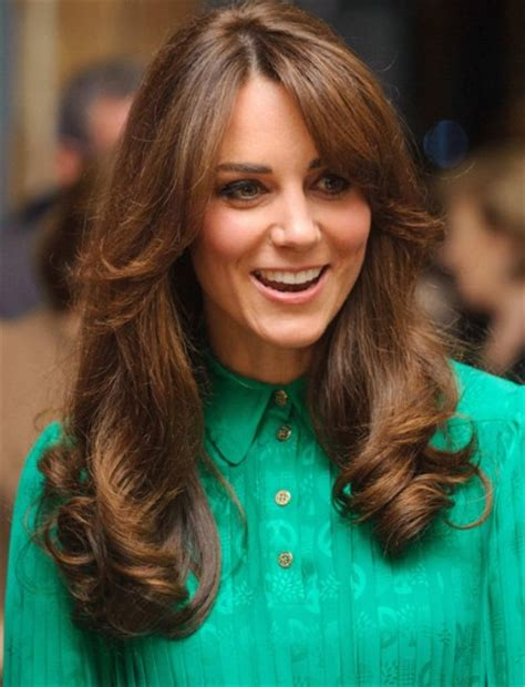 duchess kate shows off her new hairstyle picture the duchess of cambridge shows off new fringe telegraph