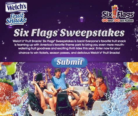 sweepstakes myfreeproductsles com - Six Flags Sweepstakes