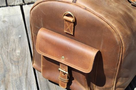 Piede Manners Brown Pull Up Leather kodiak leather classic weekender duffel 60l by jared