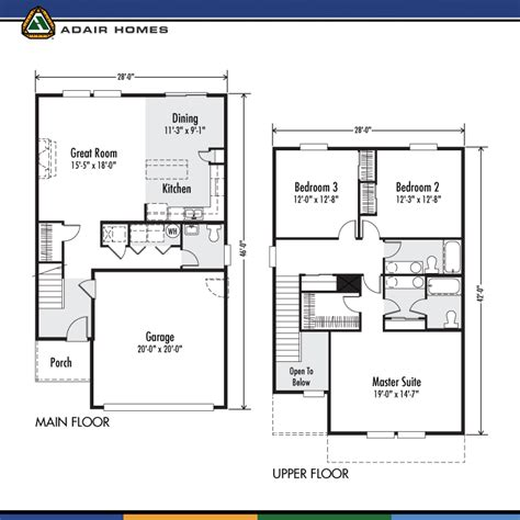 adair floor plans adair homes the ruby 1843 home plan