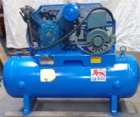 leroi 80 gal air compressor 36 cfm 10 hp single phase motor ebay