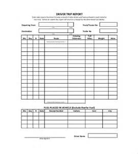 Trucking Trip Sheet Templates by 10 Trip Report Templates Free Sle Exle Format