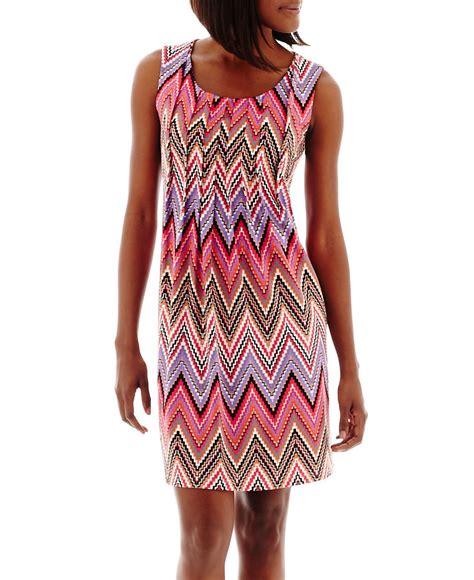 Rn Dress Tania Fit L ronni rn studio by sleeveless chevron print shift