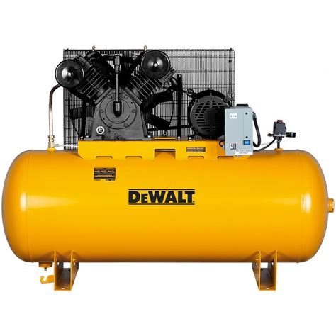 10 hp air compressor shop dewalt 10 hp 120 gallon two stage electric air