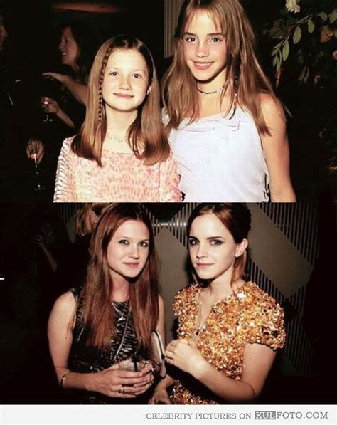 Watson Is All Grown Up by Then And Now Bonnie Wright And Watson Quot Then