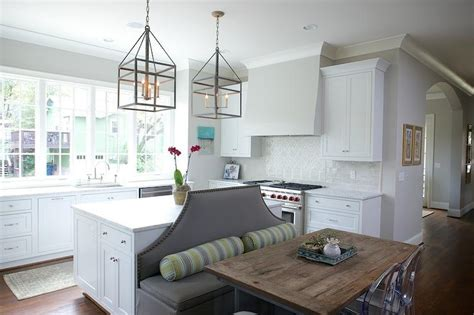 grey banquette kitchen islands as banquettes