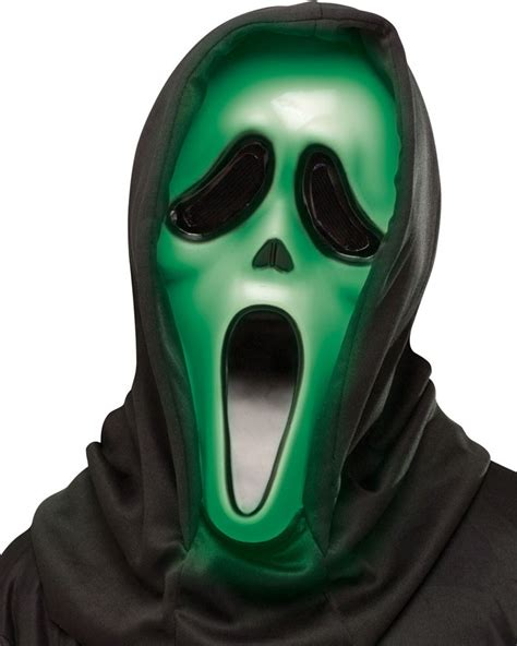 light up face mask light up scream ghost face mask accessories