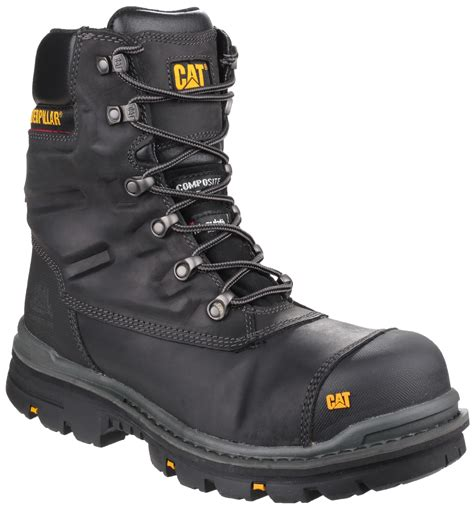 Caterpillar Boot Safety Termurah 4 caterpillar premier mens safety boots 8 quot waterproof composite toe cap side zip ebay
