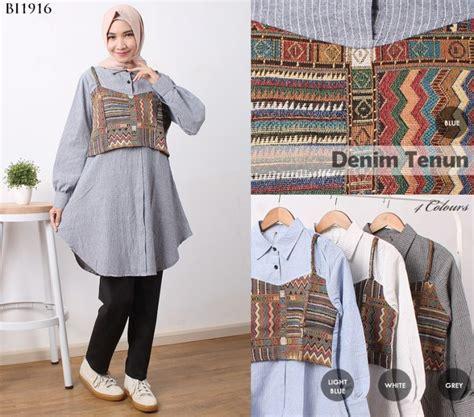 Maxi Tenun Pashmina dress babydoll tenun bi1916