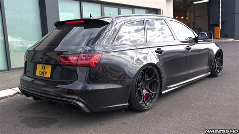 audi slammed slammed audi rs6 c7 with loud milltek exhaust revs