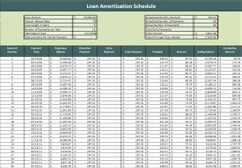Car Payment Schedule Template by Loan Amortization Schedule