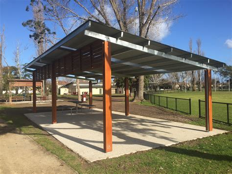 Metal Roof Car Shelter by Grdc City Of Port Phillip Murphy Reserve Shelters