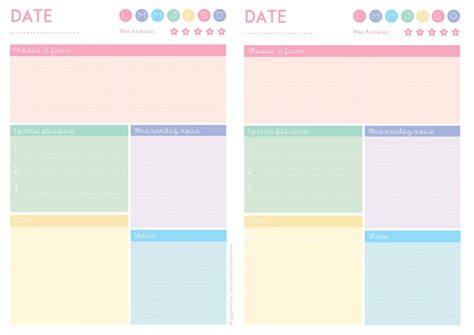 Calendrier Hebdomadaire à Imprimer Imprimez Semainier Planning De Semaine Agenda