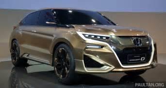 honda new suv car shanghai 2015 honda concept d previews new suv