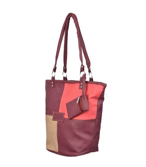buy fristo maroon and multi rossie womens handheld bag