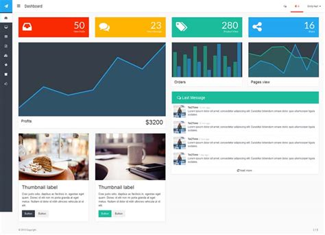 20 Admin Dashboard Templates Free Download For Your Web Dashboard Website Templates Free