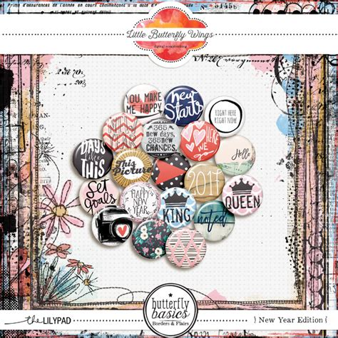 new year edition element packs digital scrapbooking elements the lilypad