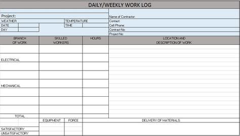 log sheet work log outline templates job template receipt best job