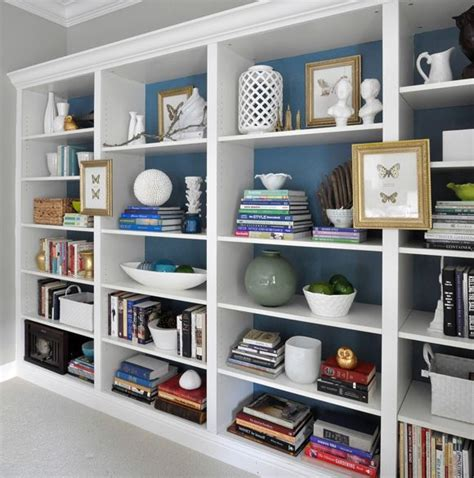 The Billy Ikea Bookcases As Built In Paint Back Of Shelves