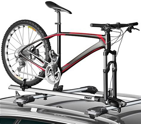 Roof Top Bike Rack by Thule Thruride Thru Axle Roof Top Bike Carrier Cargogear
