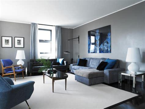 decorar sala azul salas en gris y azul salas con estilo
