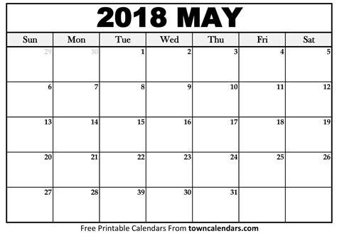 may 2018 calendar free 5 may 2018 calendar printable template pdf source