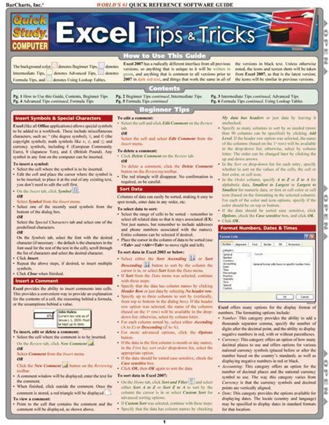 Excel Tipps Und Tricks F Uuml excel tips tricks computer ms office hints tips
