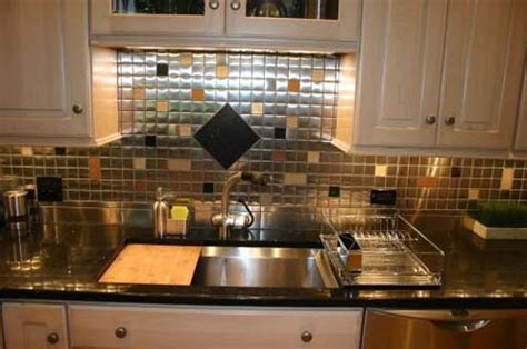 glass and stainless backsplash mosaic tile backsplash pictures get ideas for your kitchen