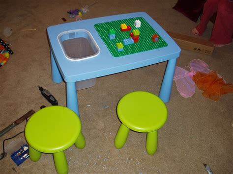 modded an ikea table into a duplo activity table for my