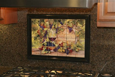 hand made the vineyard kitchen backsplash tile mural by kitchen tiles of wine backsplash ideas bordeaux tile