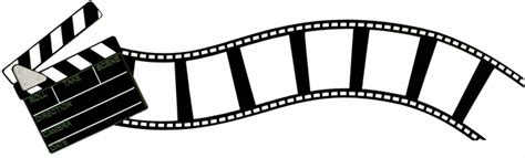 biography of film border movie clap and curved flimstrip border laser die cut