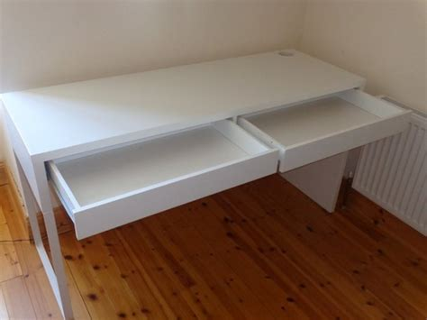 ikea micke desk white 142x50 like new 2014 for sale in