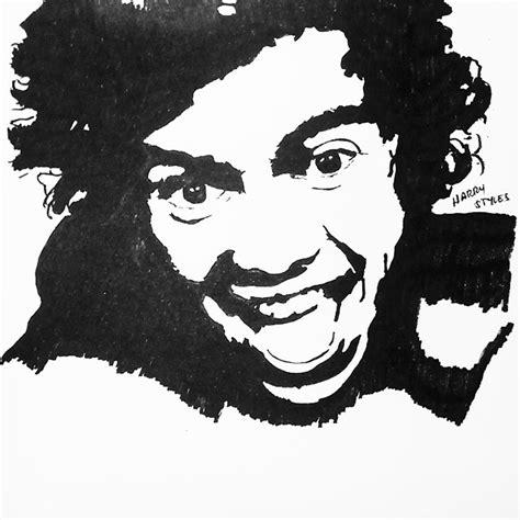 fotos en blanco y negro de harry styles stencil art of harry styles by stenciltube on deviantart