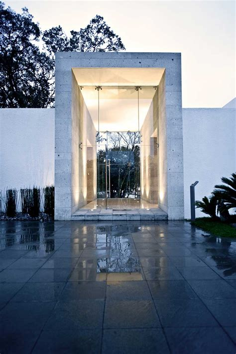 the entrance house glass entrance sophisticated three story home in mexico