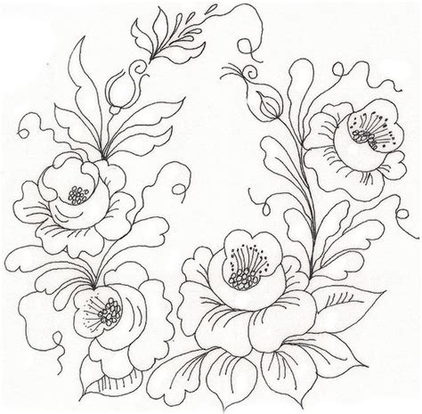flower pattern embroidery design 386 best trace images on pinterest