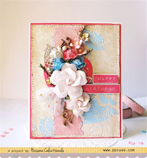 tutorial carding card quill and punch works layered birthday card with tutorial