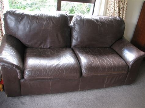 cracked leather couch testimonial restoration of dark brown leather couch