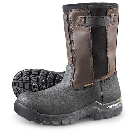wellington work boots for carhartt rugged flex composite toe wellington work boots