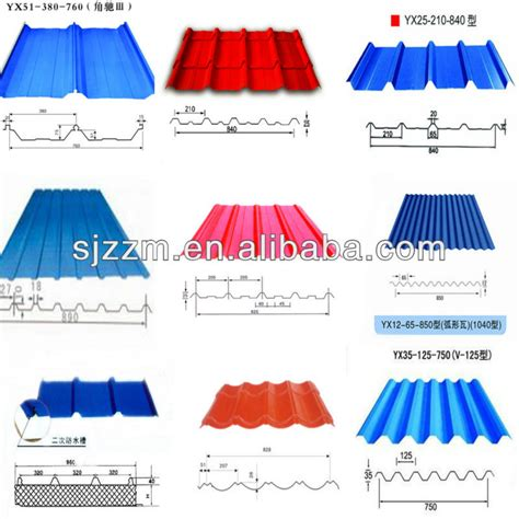 types of sheets iron ibr metal building roof sheet color steel roof tile