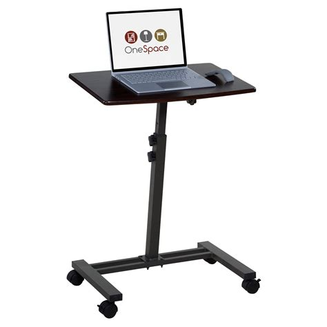 laptop mobile desk onespace adjustable mobile laptop computer cart desks at