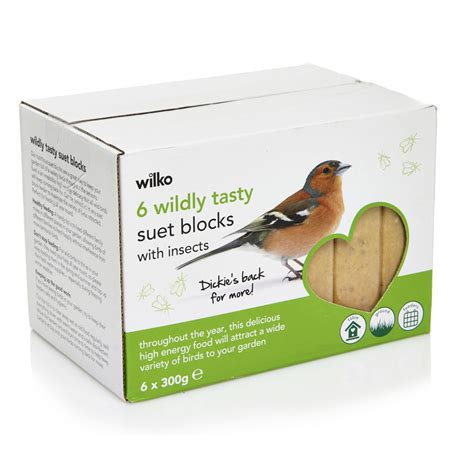 wilko wild bird suet blocks with insects 6pk at wilko com